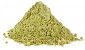 Heap pile of Matcha, Green Japanese Powered Tea  isolated on white background  poster