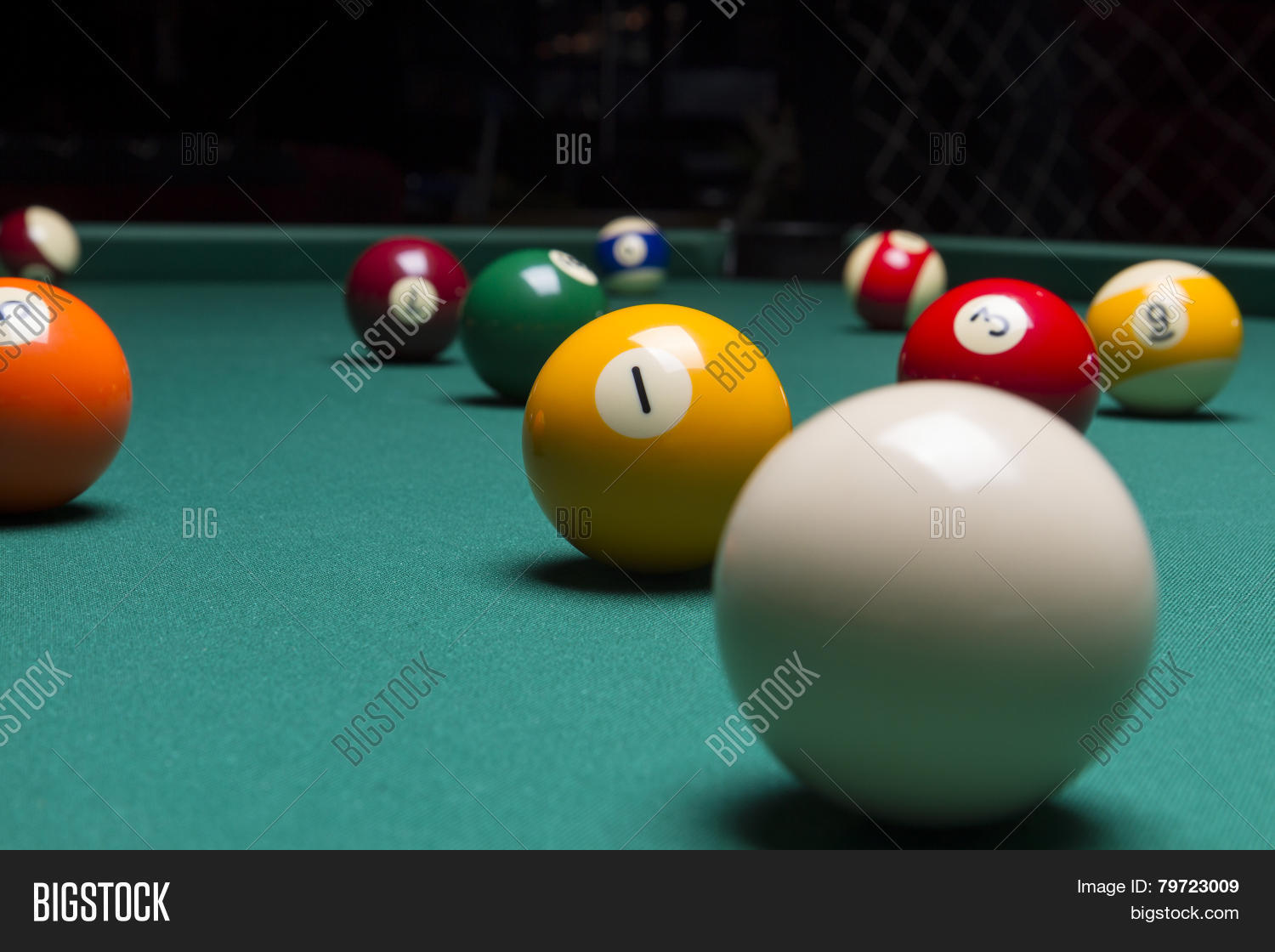 the ball focus royalty yellow in a pool table on stock balls image shutterstock free billiard photo