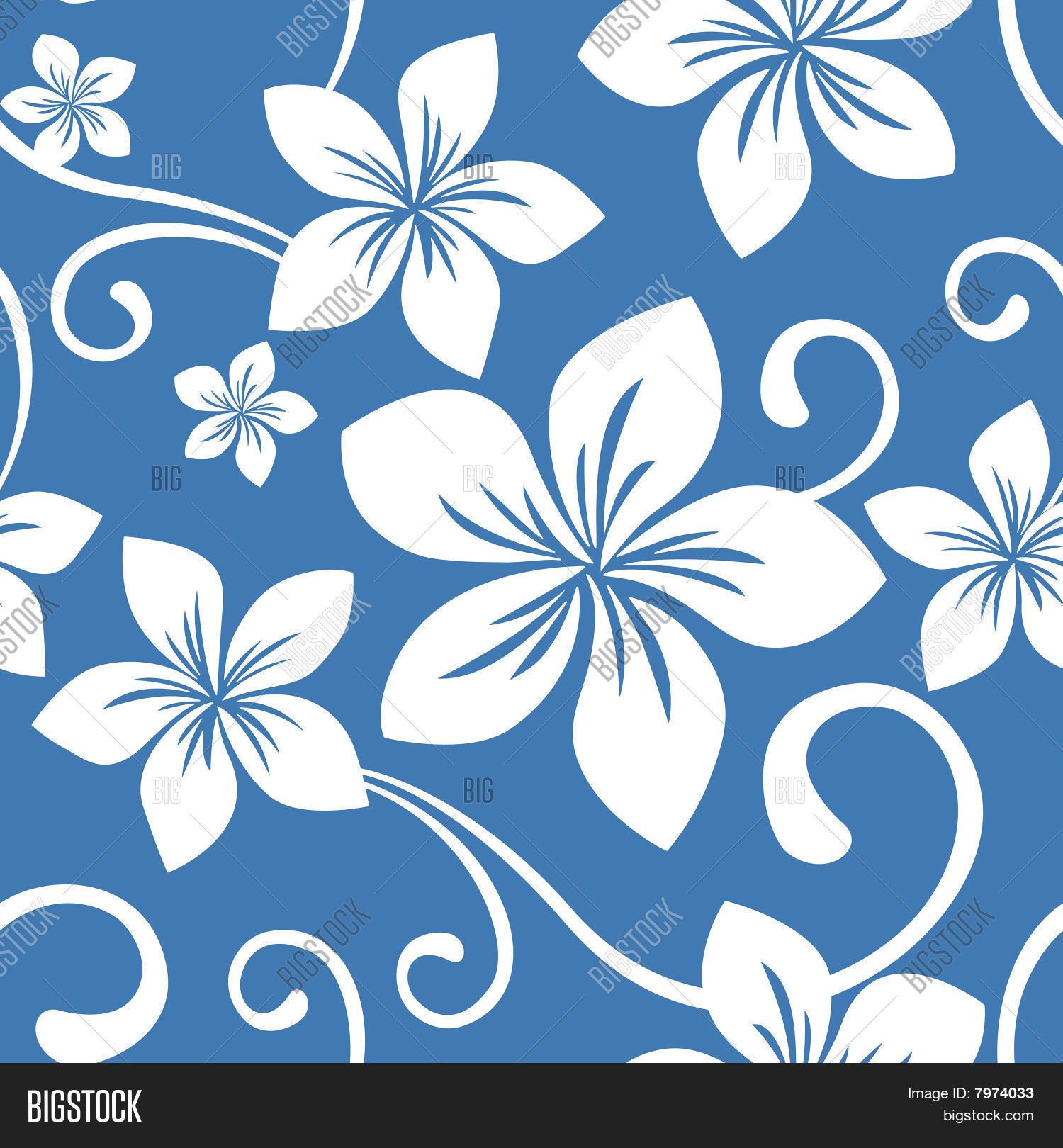 Seamless blue hawaii pattern vector photo bigstock seamless blue hawaii pattern izmirmasajfo Images