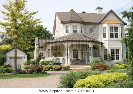 An Executive House with Circular Driveway