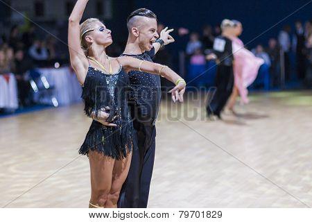 Minsk-belarus, December 20,2014: Professional Belarussian Dance Couple Of Kosyakov Egor And Belmach