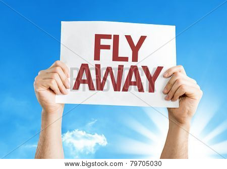 Fly Away card with a beautiful day