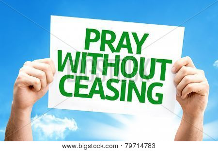 Pray Without Ceasing card with a beautiful day