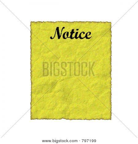 parchment notice