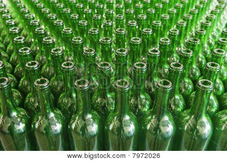 Green Glass Wine Bottles