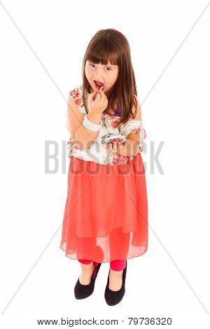 Little Girl Acting Like Adults