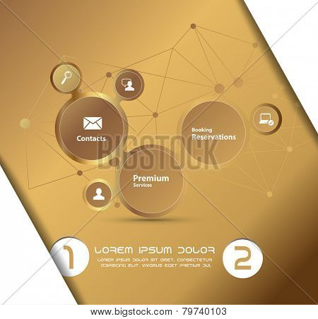 Gold computing concept. Vector illustration