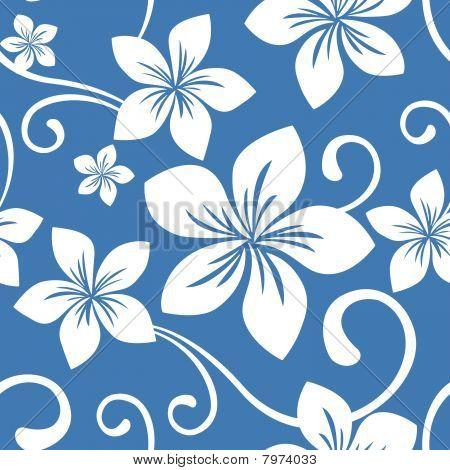 Seamless Blue Hawaii Pattern
