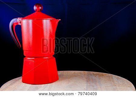 Coffeepot On Cutting Board