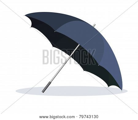 Opened umbrella isolated on white background.