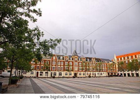 Market Square In Fredericia City, Denmark