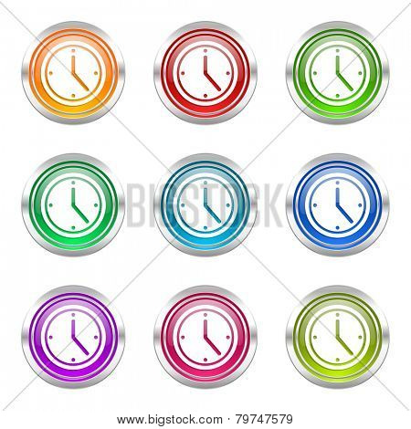 time icons set watch sign