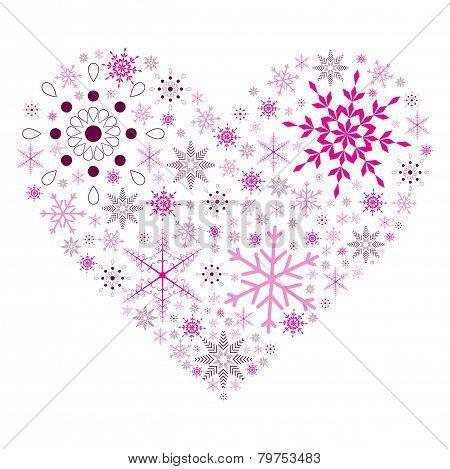 Snow Flake Heart
