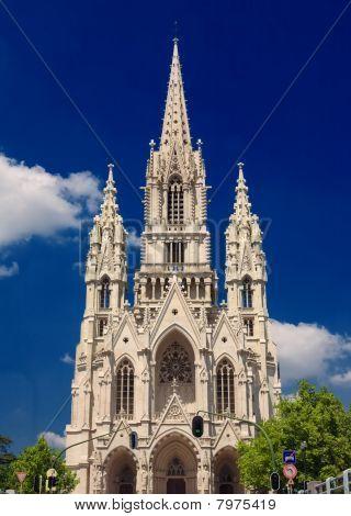 Castle Tower In Brussels