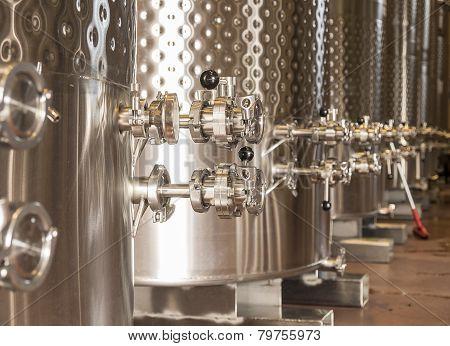 Winery Fermentation Tanks