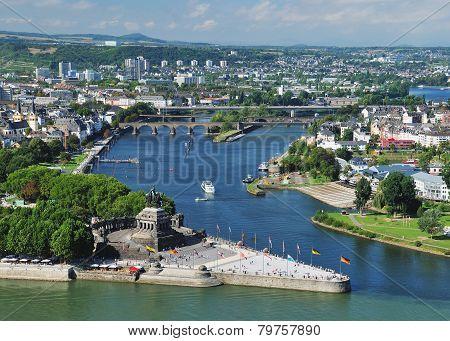 the german corner in Koblenz
