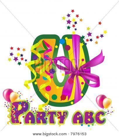 Decorative party letter