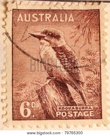 Australian Postage stamp - kookaburra.