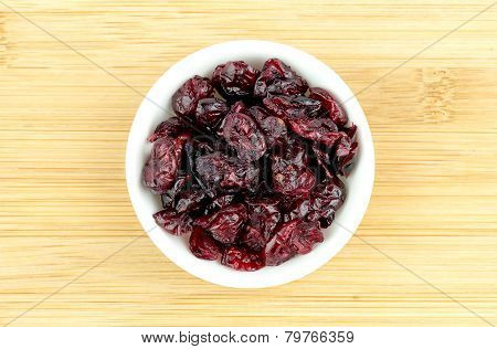 Dehydrated Dried Cranberries In Bowl
