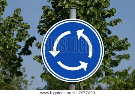 Roundabout roadsign