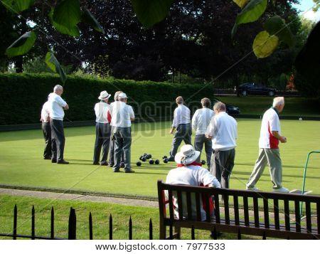 Men Playing Bowls
