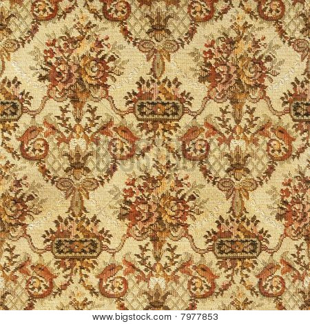 Pattern Of An Ornate Colorful Floral Tapestry On Light Background