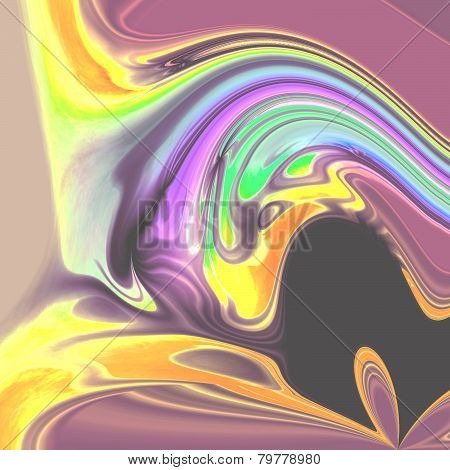 Abstract Blended Pastel Colors Image