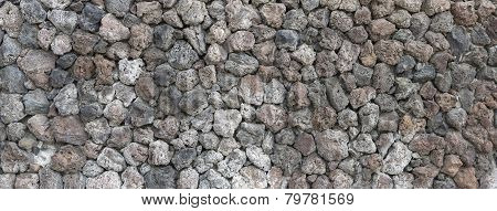 Background Of The Wall Volcanogenic Vesicular Stones.