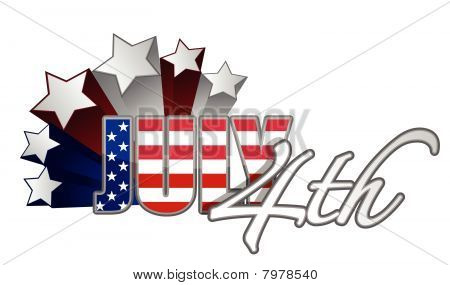 July 4th starts  / vector