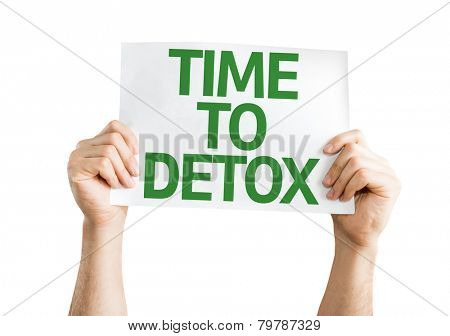 Time to Detox card isolated on white background poster