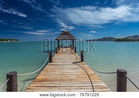 Pier on Fiji Beach