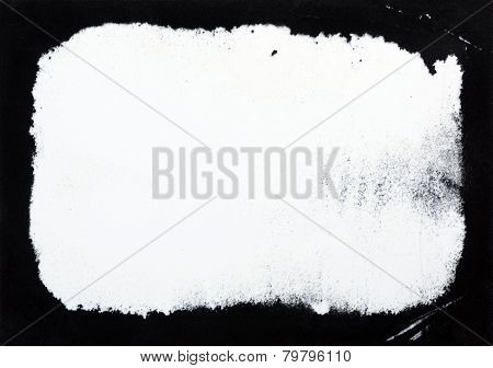 Abstract Black Flock On White Background