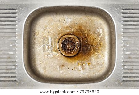 grunge old dirty sink