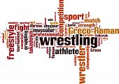Wrestling Word Cloud, Vector Illustration Isolated on White poster