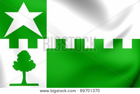 Flag Of Stede Broec, Netherlands.