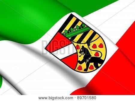 Flag Of Saale-holzland-kreis, Germany.