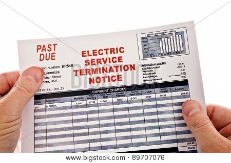 Past Due Cut Off Notice In Hands
