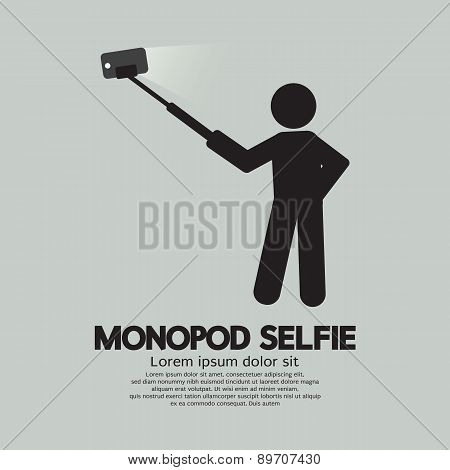 Monopod Selfie Self Portrait Tool For Smartphone.