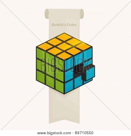 Rubik's Cube and Ribbon