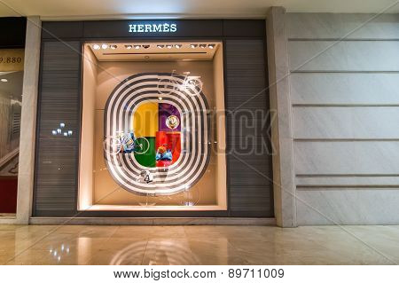 Hermes Boutique Display Window. Ho Chi Minh, Vietnam