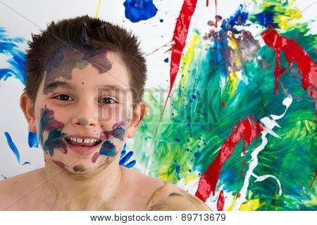 Happy Creative Little Boy