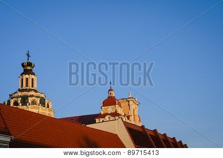 Rooftops Of Vilnius, Lithuania, Europe