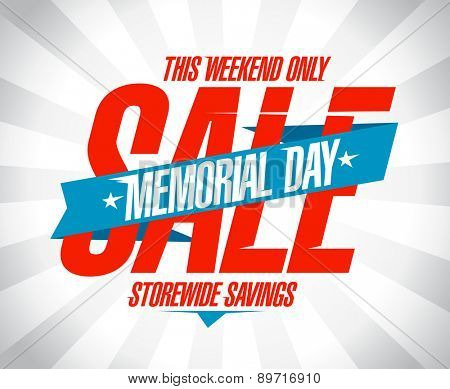 Memorial day sale banner.