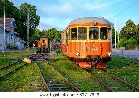Vintage train in Sweden