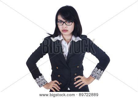Portrait Of Bossy Businesswoman 1
