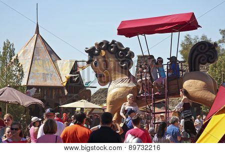 A Giant Horse At The Arizona Renaissance Festival
