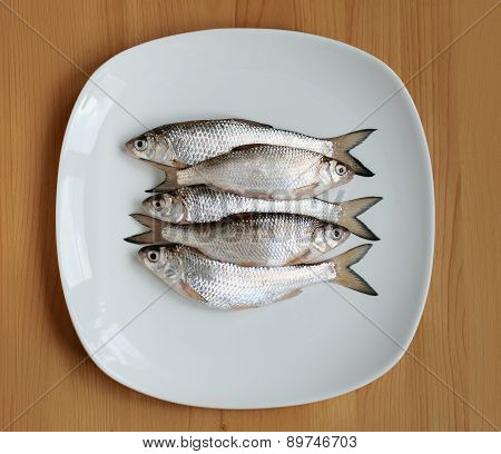 Fresh fish on a plate