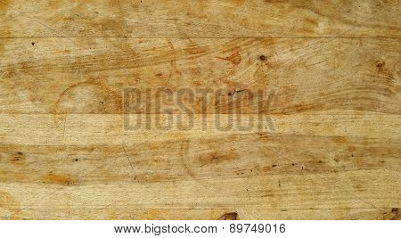 Wood board surface