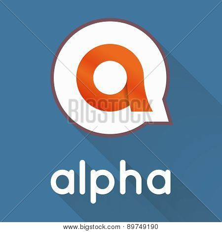 Alpha letter stylized vector