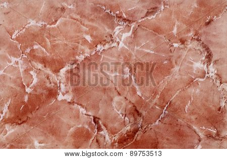 high quality red colored marble tile , close up